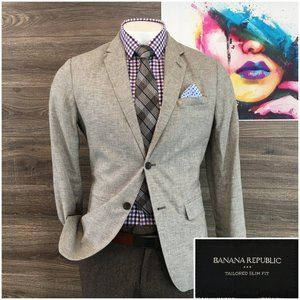 Banana Republic Slim Fit Sport Coat Blazer Jacket